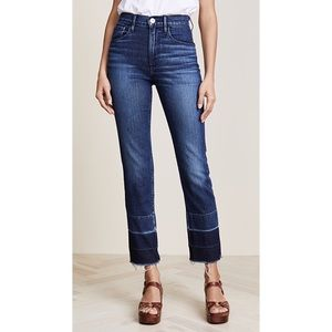 3x1 Shelter Straight Crop Ombré Raw Hem Jeans